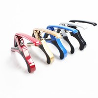 Wholesale HOT Classic Folk Acoustic Electric gita capotraste Aluminium alloy durable Guitar Tuner Trigger Guitar Capo Key Clamp EaMZu Guitar Accessori
