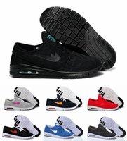 achat en gros de air max noir-2015 Chaussures New SB Stefan Janoski Max course pour femme homme, noir rouge vert High Sneakers qualité Chaussures de marche en plein air Livraison gratuite