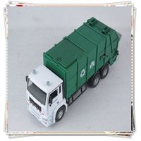Wholesale Toy garbage truck scale models kids toys cars miniatures hotwheels toy cars styling cheap toys modelador model car tipper