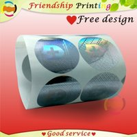 apparel label printing - Custom Hologram label adhesive Security Laser stickers printing gold or silver material Factory