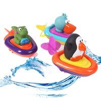 baby toucans - Baby Alligator toucan penguin Boat Ship Rally Floating Toys Wind Up Bath Motorboat Education Water Toy sassy