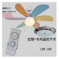 Wholesale Children s ceiling fans LED simple fashion fan light bedroom dining room living room ceiling fan lights with remote control