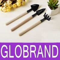 Wholesale Plant Garden Tools Wooden Handle Gardening Shovel Rake Small Shovel Rake Spade Brand New Good Quality GLO912