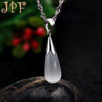 artificial flowers singapore - JPF angel tears high grade artificial opal Silver Necklace Silver female the Qixi Festival Valentine s Day gift to send his girlfriend