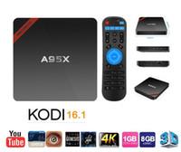 beat pro - A95X Android Marshmallow K TV Box Amlogic S905X Mini PC KODI16 Pre installed Small Smart Beats MXQ Pro With Learning Remote