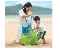 Fabric baby bedding collections - Extra large sand away beach mesh bag Children Beach Toys Clothes Towel Bags baby toy collection storage bag