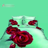 duvet cover - Free Cheap D Bedding Sets Charming Pattern Design Printed Comforter Sets Queen Size Duvet Cover Bed Sheet