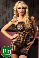 Wholesale Sexy Women Ladies Babydoll Fishnet Sexy Nightwear Mini Dress Lace Sexy Net Europe Plus Size Lingerie Sexy Underwear Adult Supplies