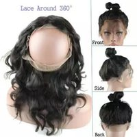 Wholesale 8A Lace Frontal Wig Body Wave inch Brazilian Hair Unprocessed Human Hair with Baby Hair