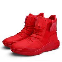 Nuevos hombres de moda Vice Versa Zapatos Casual Breath High Top Zapatos de plataforma de tobillo Famoso marca de Corea del deporte de altura Aumentado Chaussure Homme