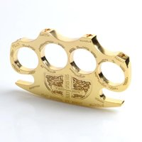 Wholesale 1pcs Hell detective Constantine Brass Knuckle dusters Gold Self defense Equipment self defense tool