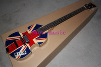 authentic guitars - Authentic four string electric bass Hollow British flag pattern