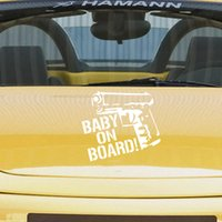 Wholesale quot BABY NO BOARD quot sticker Individuality creative sticker Lovely and funny body stick Car decoration products Waterproof stickers