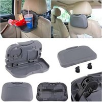Wholesale Car Tray Food Car Stand Rear Seat Beverage Rack Drink Holder Bottle Travel Mount Accessory Foldable Meal Cup Desk Table