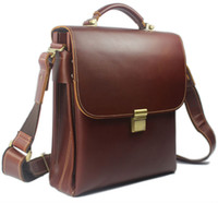 attache case women - Luxury Men Briefcase portfolio men Leather Briefcase handbag Business Bag attache case male Genuine Leather crossbody bag M002