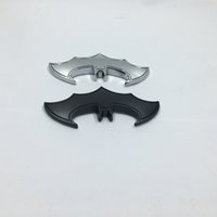 batman auto accessories - 100pcs D Cool Metal Bat Auto Logo Car Stickers Batman Badge Emblem Tail Decal Motorcyle Car Accessories