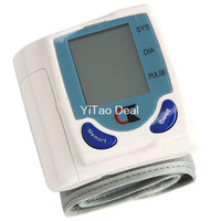 Wholesale Portable Automatic Wrist Arm Cuff Blood Pressure Pulse Meter Monitor with Digital LCD Screen