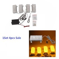 Wholesale Universal LED Yellow Strobe Emergency Flashing Warning Light for Car Plastic W LED Emergency Lights JTCL014