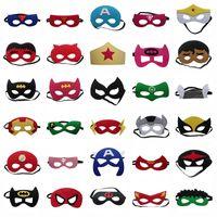 Wholesale Kids Felt Superhero Eyemask Handmade Soft Batman Spiderman Halloween Christmas Party Mask Designs Cosplay Costumes Masks Party Favor
