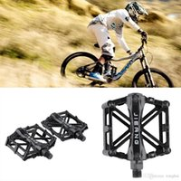 Wholesale Ultralight Aluminum Alloy Bicycle Pedals Mountain Bike Pedal MTB Road Cycling Riding Alloy Wellgo Pedal Treadle Black H210420