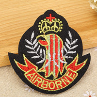 airborne shirt - Airborne US Military Army Symbol badge Iron on Embroidered patch Gift shirt bag trousers coat Vest Individuality