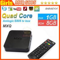 Wholesale 2016 New MXQ S805 TV Box Kodi14 Kitkat K Amlogic Android MXQ S805 Quad Core GB GB Smart Google TV