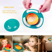 baby feeding dish - 20 Baby Boys Girls Toy Funny Not inverted Bowl Rotate Spill Proof Dishes Kids Feeding Pratos Children Learning Training Tableware