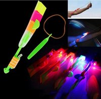 amazing xmas gifts - Hot sale Free DHL Amazing LED Light Arrow Rocket Helicopter Flying Toy LED Light Flash baby Toys Party Fun Gift Xmas