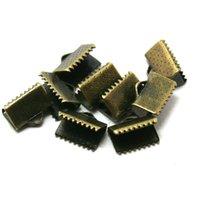 Wholesale Hot Antique Bronze Plated End Caps Crimp Beads mm for DIY Accessories CN FKG003