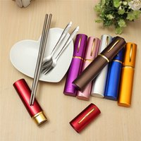 best quality stainless steel cutlery - The Best Quality Portable Travel Stainless Steel Chopsticks Spoon Fork Cutlery Set Tableware Kit Best Promotion