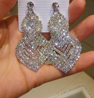 alphabet cups - Fashion Statement Stud Earrings New Silver Diamond Stud Earrings Cup Chain Earrings Women Statement Everning Bar Stud Crystal Stud Earrings