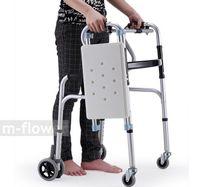 bath walk - YC8301 With Seat Universal Wheel can brake removable Folding Legs Can Sit Take Bath Aluminium Alloy Mobility Aids Walker Walking Aid