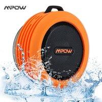 Wholesale Mpow MBS6 Buckler Portable Wireless Bluetooth Speaker Waterproof Wireless Speakers with Mic Cup Outdoor Shower Loudspeakers