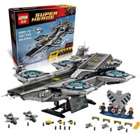 aircraft build - 3057pcs Lepin Superheroe the Shield Helicarrier Aircraft Carrier Building Block Kits Minifigure Compatible Legoelied