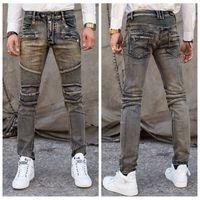 cheap jeans for men - New Fashion balmai jeans for Men Casual Denim Straight Design Biker Jeans homme Pants Cheap Clothes China Brand Clothing