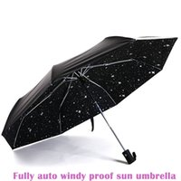 automatic close umbrella - 2016 three folding compact lady Anti uv women girl male female fully auto open close fashion sunshade black coat sunny umbrellas