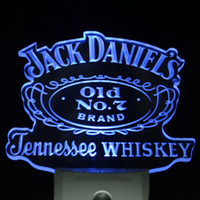 Wholesale ws0028 Jack Daniel s Whiskey Day Night Sensor LED Night Light Sign