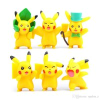 abs articles - 6pcs of a set Cute view Pikachu doll cm cm furnishing articles doll ABS Action Figure Toys