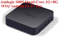Wholesale 2016 MXQ Android TV Box Amlogic S805 OTT TV Box Android4 XBMC Kodi installed Android Smart Set Top Box MXQ