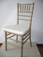 Wholesale gold wooden chiavari chair for wedding