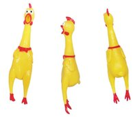 Wholesale Yellow Chicken Shape Pet Toy Dog Chew Elastic Toys Soft Plastic Pet Cat Sound Educational Toys Mini Rubber Chew For Small Middle Pets