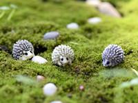 antique garden tools - 10pcs mini animal hedgehog figurine Fairy garden house Decoration resin craft bonsai tools moss Gnome Bottle DIY Jardin Miniature Terrarium