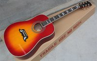 Wholesale High Quality Custom Shop Cherry Sunburst Spruce Top Rosewood Fretboard with Fishman Acoustic Electric Guitar