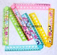 Wholesale 40 box cm plastic fashion popular cartoon My Little Pony Lovely stationery Fold ruler