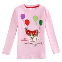 animal freshness - Brand New fashion girl s long sleeve shirt cotton five colors drop shipping pink freshness striped butterfly T shirt