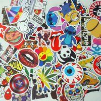 Wholesale 100pcs Stickers Skateboard Sticker Graffiti Laptop Luggage Car Decals mix