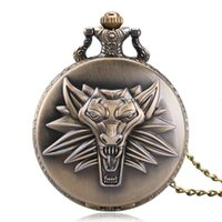 antique bronze lion - Antique Bronze Leo constellation Pendant Pocket Watch Chain Awesome Lion Head Design Quartz Watches Gift for LEO P1058