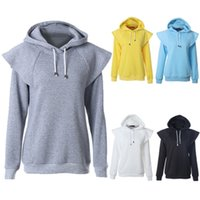 Wholesale 2015 New Arrival Fashion raglan sleeve Hoodie Draw string Cotton Liner Slim Natural Color lightweight women hoodie