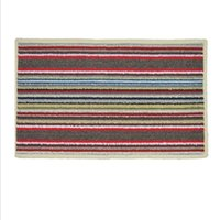 Wholesale Home Colorful Stripe Bathroom Floor Mats Absorbent Doormat Anti slip Random Color Bathroom Carpet Bath Mat