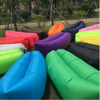Wholesale Inflatable Couch Nylon cloth and internal PVC Fast Inflatable Folding Sleep Bag Lazy Sofa Beach Bed Outdoor Camping inch